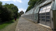 Greenhouse in the Royal Garden, Prague Stock Footage