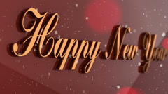 New Year red background Stock Footage