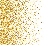 Abstract golden confetti background - stock illustration