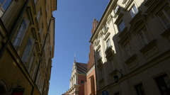 St. John's Archcathedral and Jesuit Church seen from Swietojanska street, Warsaw Stock Footage