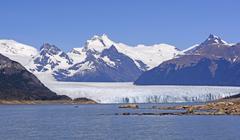 Perito Moreno Glacier on a Sunny Day Stock Photos