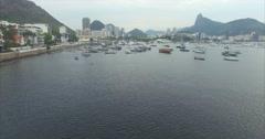 Aerial - Rio de Janeiro / Baía de Guanabara 02 Stock Footage
