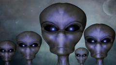 Group of aliens - stock footage