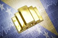 Stock Photo of bosnian gold reserves