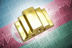 azerbaijani gold reserves - stock photo
