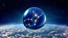 star 6 Virgo Horoscopes Zodiac Signs space - stock illustration