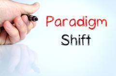 Paradigm shift text concept - stock photo