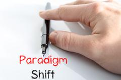 Paradigm shift text concept - stock photo