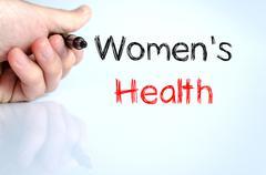Women's health text concept Stock Photos
