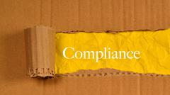 Ripped Paper With Text Compliance. - stock photo