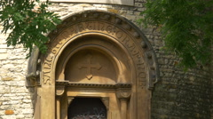 Rotunda of Saint Martin's door in Prague Stock Footage