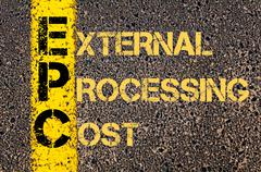 Business Acronym EPC as EXTERNAL PROCESSING COST - stock illustration