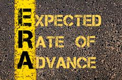 Business Acronym ERA as EXPECTED RATE OF ADVANCE - stock illustration