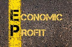 Stock Illustration of Business Acronym EP as ECONOMIC PROFIT