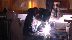 Arc Welding Student - stock footage