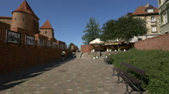 Alley next to the Barbican of Warsaw Stock Footage