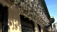 Decorative illumination of a plurality of lamps. 4K. Stock Footage