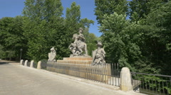 Monument of the polish Jan III Sobieski king on Agrykola alley in Warsaw Stock Footage