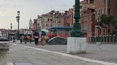 Pedestrians on Venice pavement Stock Footage
