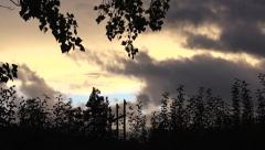 Time Lapse: Spooky Fall Time Lapse. Erie Clouds and Trees Stock Footage