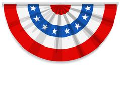 Stock Illustration of Bunting USA Flag