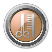 Icon, Button, Pictogram Barber Shop Stock Illustration