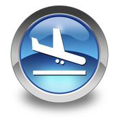 Icon, Button, Pictogram Airport Arrivals - stock illustration