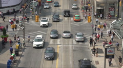 Traffic on Dundas Street, Toronto, Canada Stock Footage