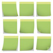 Illustration Vector Graphic Collection Post It - stock illustration