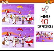 preschool differences task - stock illustration