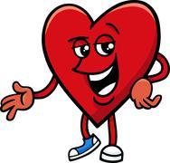 Heart valentine cartoon character Stock Illustration