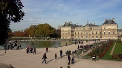 Luxembourg Palace in Paris. France. 4K. Stock Footage