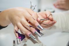 Nail creation the beauty salon - stock photo