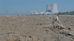 Stock Video Footage of Nuclear Power Plant at Noon - Editorial - 25FPS PAL