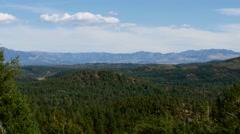 Long Slow Pan of Colorado Mountain Range, 4K - stock footage