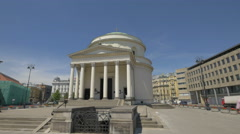 Stock Video Footage of View of St. Alexander's Church on a sunny day in Warsaw
