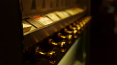 CigaretteVendingMachine knobs defocus Stock Footage