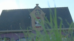 One-Eyed Giant Halloween Horror House - Editorial - 25FPS PAL Stock Footage