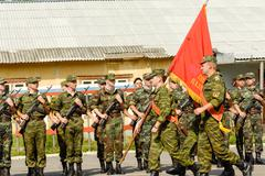 Russian army oath day Stock Photos