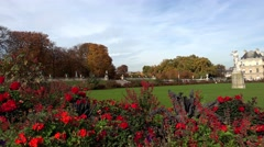 Luxembourg gardens in Paris. France. Jardin du Luxembourg. 4K. Stock Footage