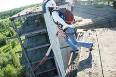 Extreme sports Ropejumping Stock Photos