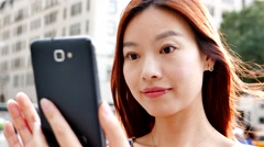 beautiful chinese women with happy smiling face. people lifestyle background - stock footage