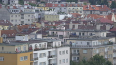 Blocks of flats in Prague Stock Footage