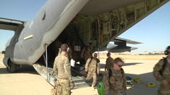 USAF Recovery Forces Arrive on C-130 - stock footage