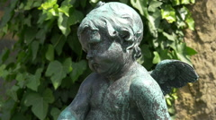 Child statue in Prague Stock Footage
