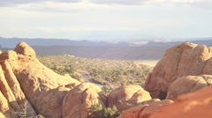 road in distance desert utah - stock footage