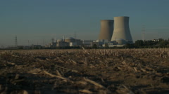 Sunset Nuclear Power Plant - Editorial - 29,97FPS NTSC Stock Footage