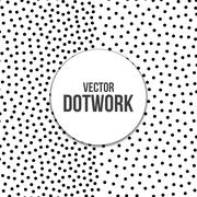 Halftone Dotwork Engraving Background - stock illustration