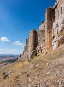 Castle and Convent of Calatrava la Nueva in Spain - stock photo