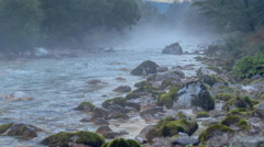 Hazy river rapids - timelapse - stock footage